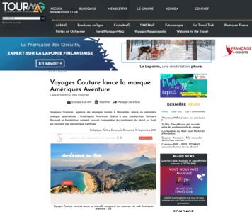 Tour Mag : Voyages Couture lance la marque Amériques Aventure
